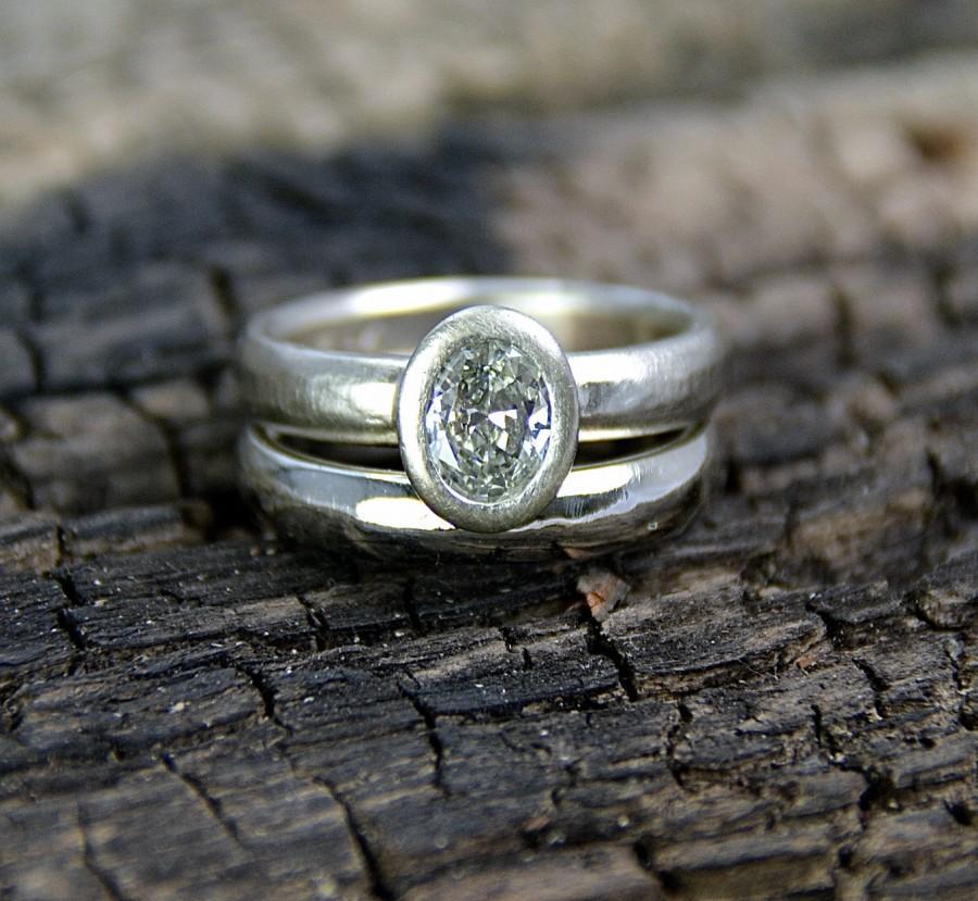 Wedding - Engagement Ring Wedding Ring Wedding Band 14K Gold Handmade Wild Prairie Silver Jewelry Joy Kruse