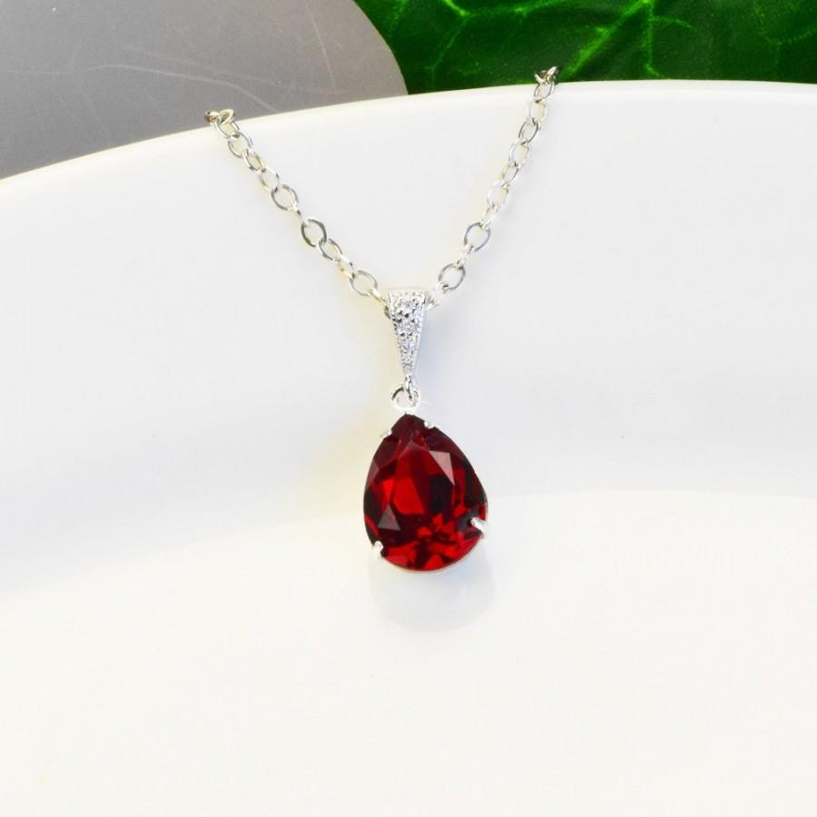 created original chain red silver jewelry lab ruby products jewellery necklace collections pendant