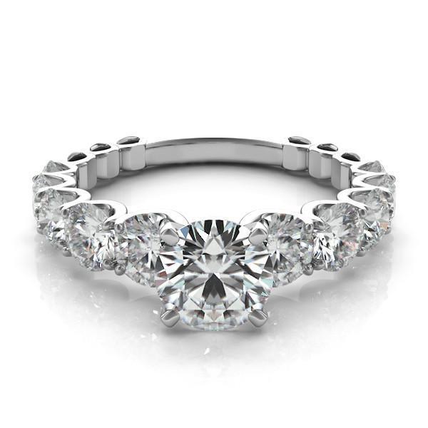 Engagement Rings York: Forever One Moissanite & Graduated Diamond Ring