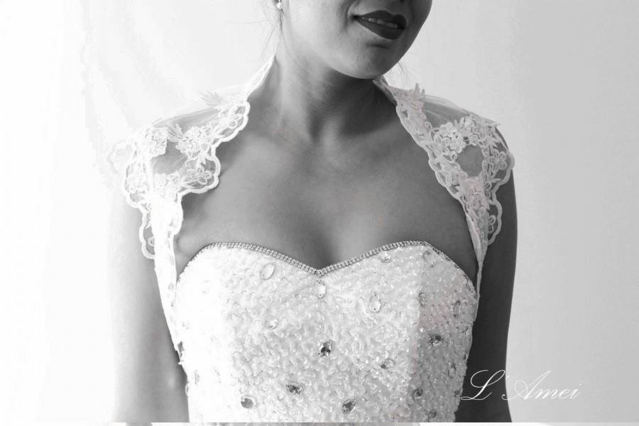 Свадьба - Ivory cap sleeve soft lace bolero jacket bridal bolero bridal jacket bridal shrug wedding bolero wedding jacket wedding shrug