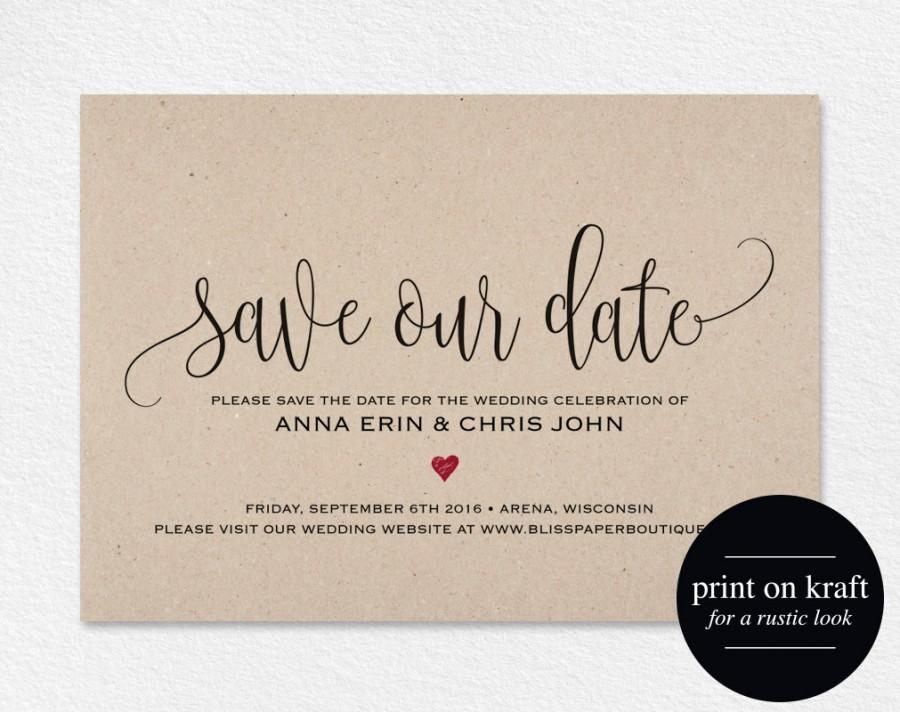 picture relating to Free Printable Save the Date Templates called Preserve The Day Template, Preserve The Day Card, Preserve The Day