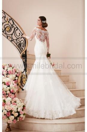 زفاف - Stella York Long Sleeved Wedding Dress With Illusion Back Style 6353