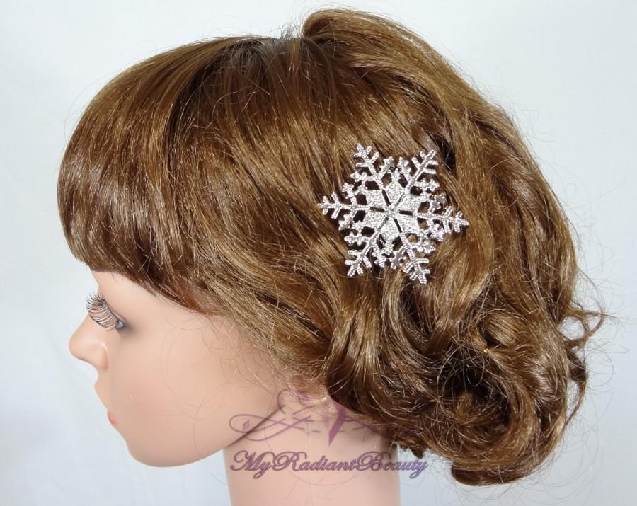 Mariage - Wedding Comb, Bridal Rhinestone Comb, Crystal Snowflake Comb, Wedding Swarovski Comb, Bridal Crystal Comb, My Radiant Beauty HC0026