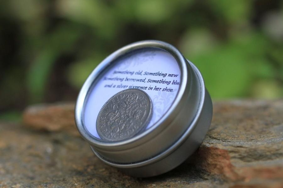 Mariage - Classic Sixpence Wedding Coin in Keepsake Container
