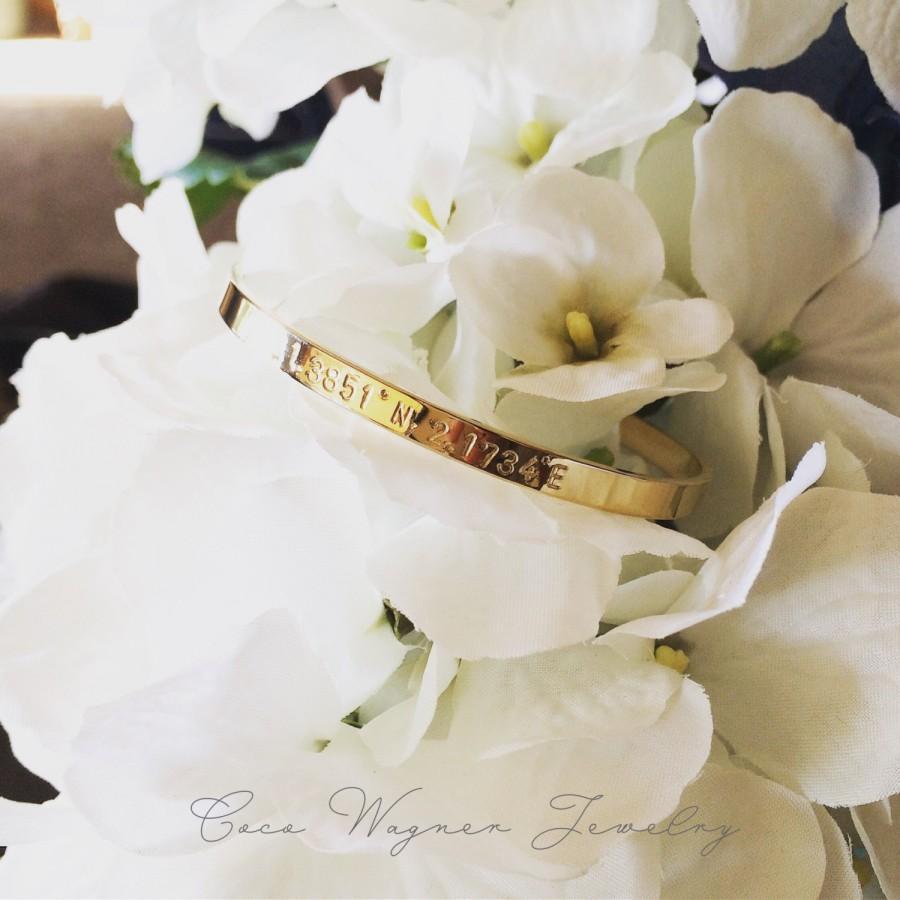 زفاف - Personalized Cuff Bracelet/Engraved Bangle/Cuff Bracelet/Custom Cuff Bracelet /Happiness & Inspirational Cuff Bracelet/ Personalized Wedding