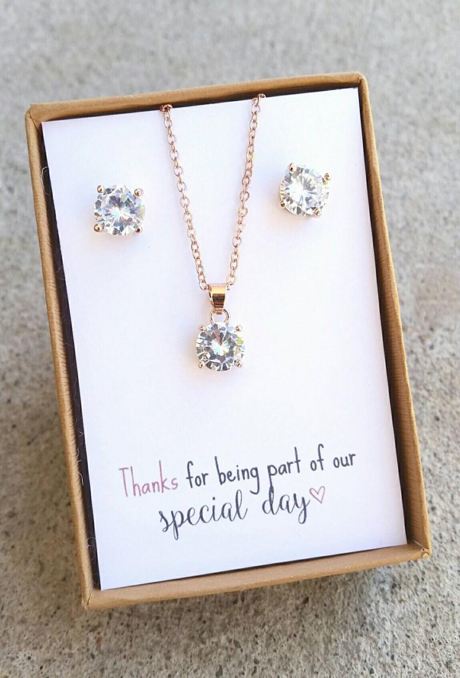 set for 23 bridesmaid jewelry set bridesmaid gift