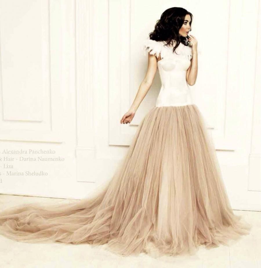 Wedding Dress Wedding Gown Prom Dress Dropped Waistline Designer
