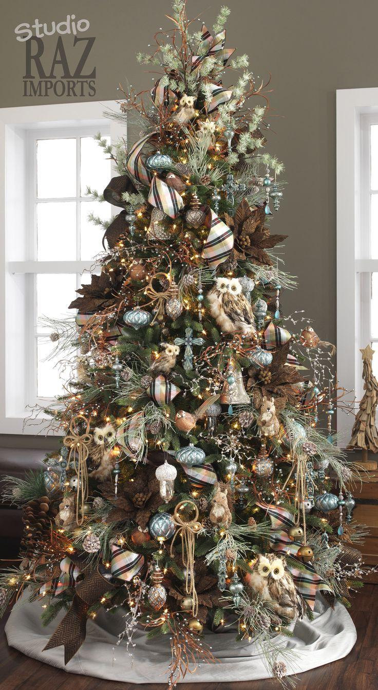60 gorgeously decorated christmas trees from raz imports for Weihnachten 2017 trendfarbe