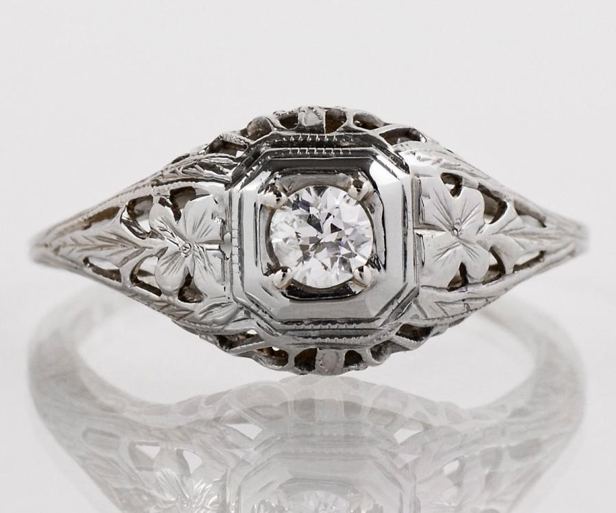 antique engagement ring antique edwardian 18k white gold