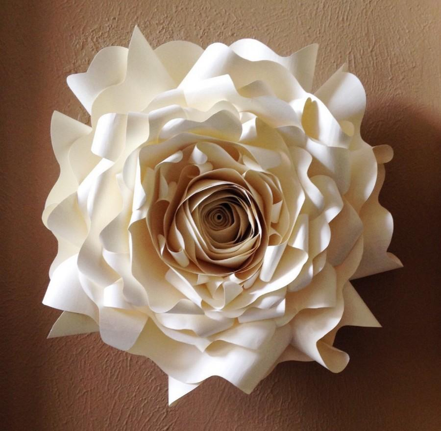 Wall Decoration Paper Flowers : Giant paper wall flower decor wedding party