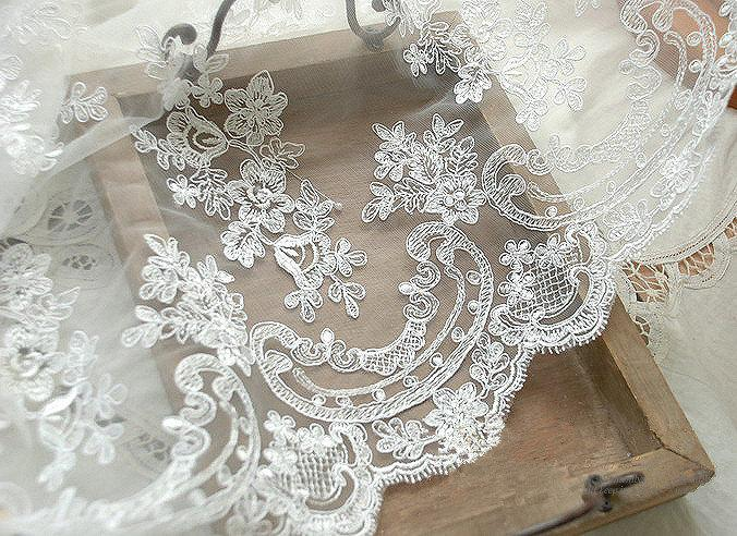 Sale Wedding Lace Fabric Embroidery Lace Fabric Corded Lace Fabric