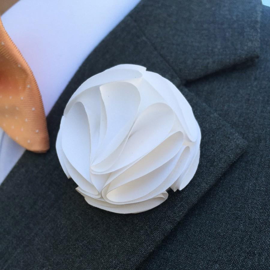 Mens boutonniere wedding boutonierre paper flowers wedding mens boutonniere wedding boutonierre paper flowers wedding button hole wedding flowers grooms flower lapel pin wedding flower mightylinksfo
