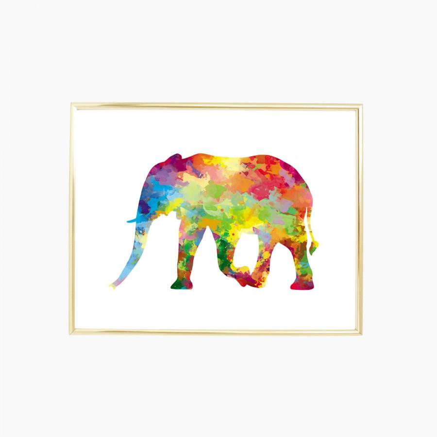 Wedding - Elephant - Digital Print and Poster - Drawing & Illustration - Wall Art - Printable Artwork - All Popular Sizes