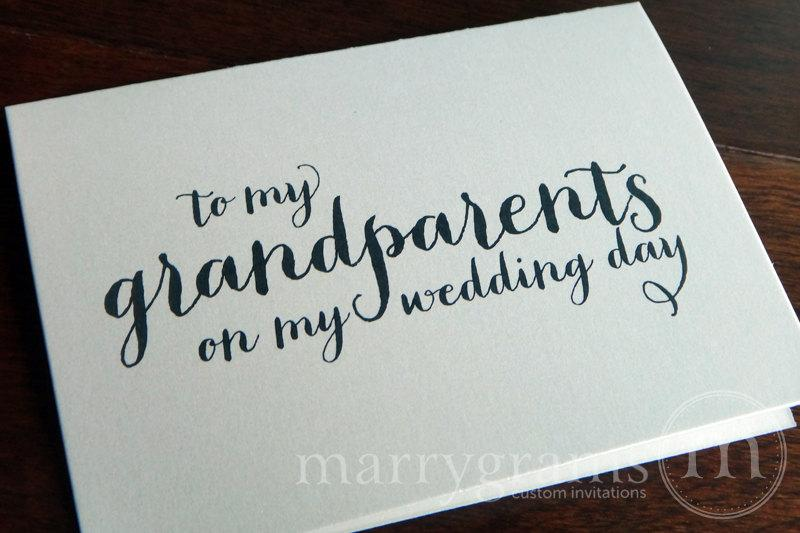 Wedding Card To Your Grandparents Grandparents Of The Bride Or