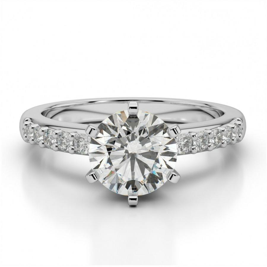 Moissanite Diamond Solitaire Wedding Ring Engagement Bridal