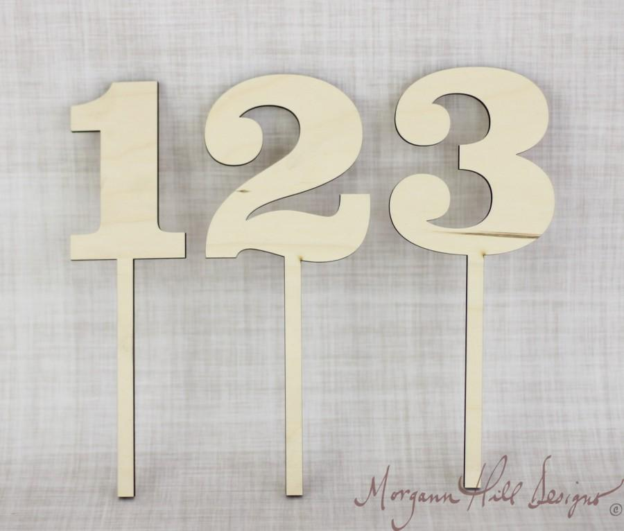 Mariage - DIY Wood Table Numbers Rustic Wedding Decor Unfinished Wood Barn Wedding Rustic Chic (Item Number 130003)