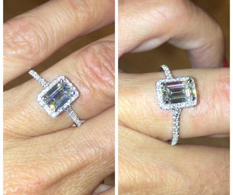 Emerald Cut Ring 7x5mm...