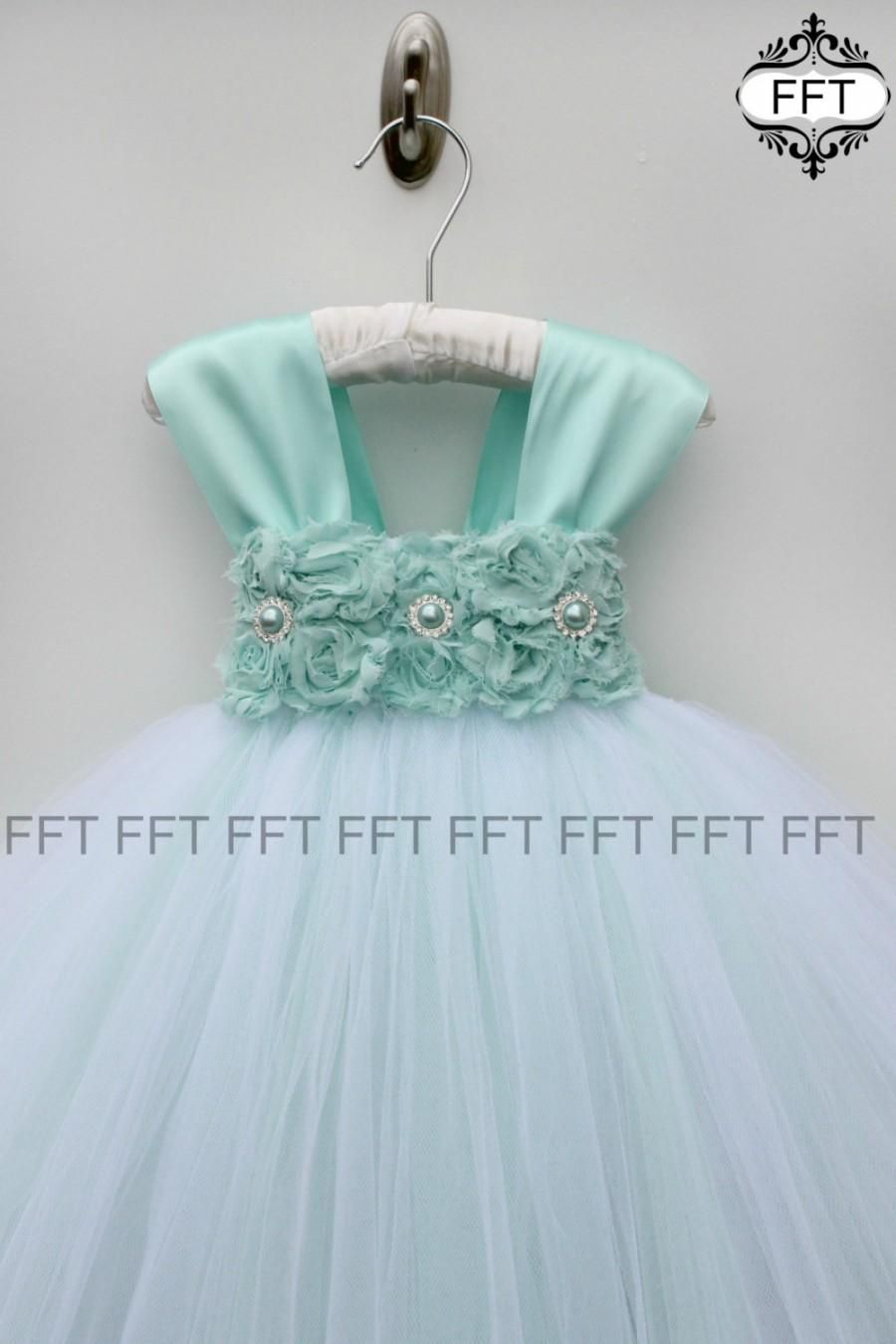 Dress Aqua Flower Girl Dress With Cap Sleeves 2564103 Weddbook