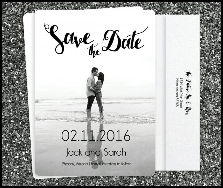 Printed Country Rustic Wedding Save The
