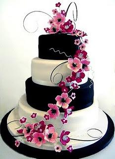 Black White Pink Wedding Ideas Color Themes