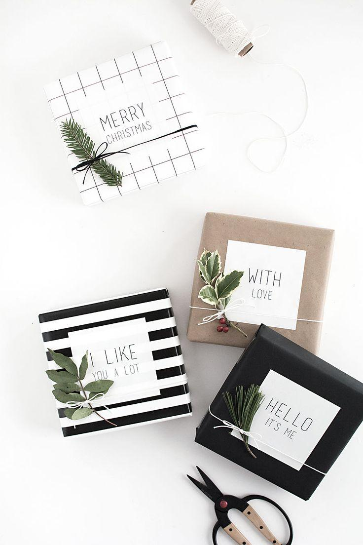 Wedding - Easy Gift Wrap: Gift Tag Stickers