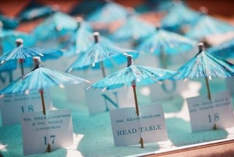 62 Creative Beach Wedding Escort Cards Ideas #2564210 - Weddbook