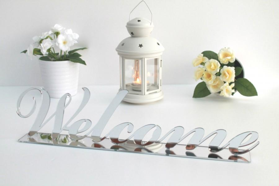 Mariage - Welcome Sign Table Decor, Silver Welcome Sign, Welcome Wedding Sign, Home Decor Sign, Wedding Decor, Table decor, Reception Decor