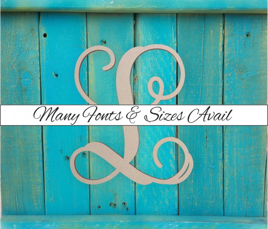 wooden monogram letter l large or small unfinished cursive wooden letter perfect for crafts diy weddings sizes 1 to 42