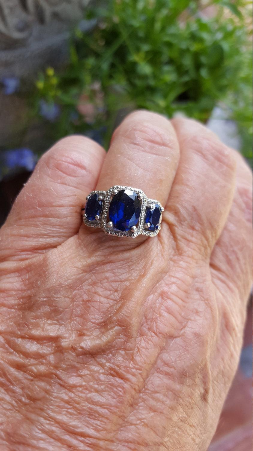 with two sets guinevere puzzle royale engagement ring bridal diamond sapphires and side sapphire piece from center rings round