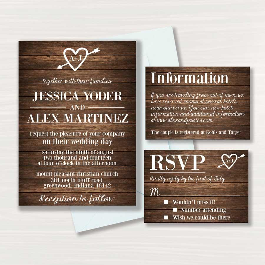 زفاف - Rustic Wedding Invitation - Printable - Wedding Invitation - Digital  - (2)