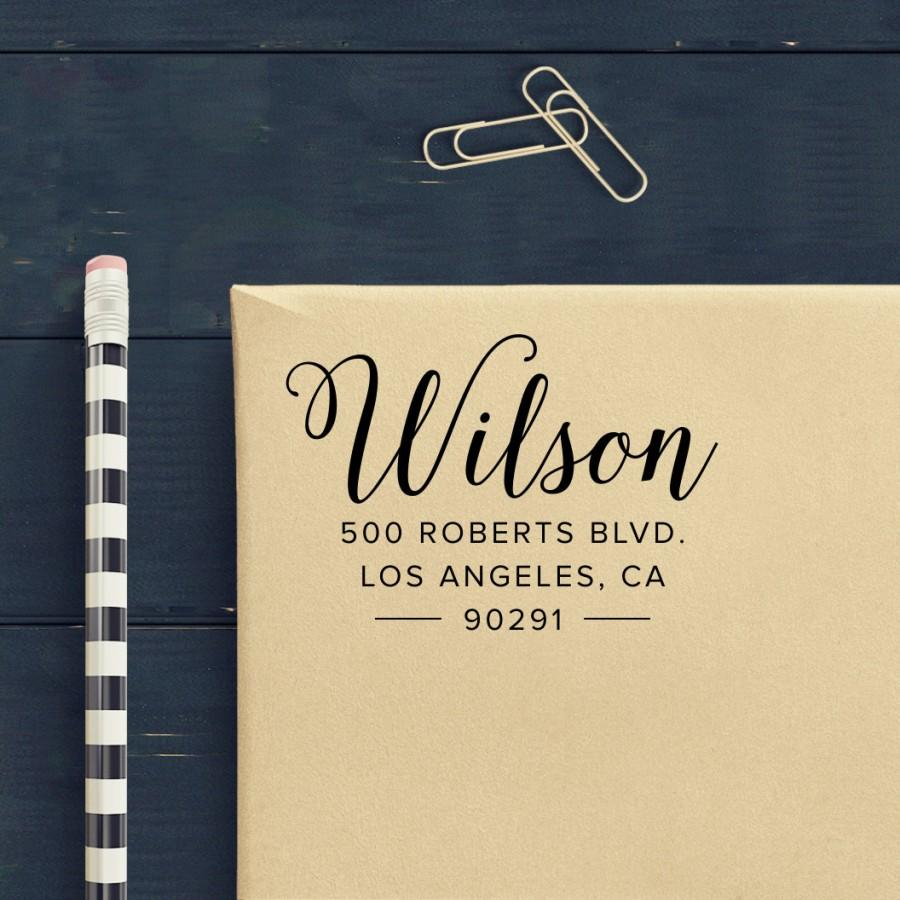 Custom Address Stamp Pointed Pen Calligraphy Return