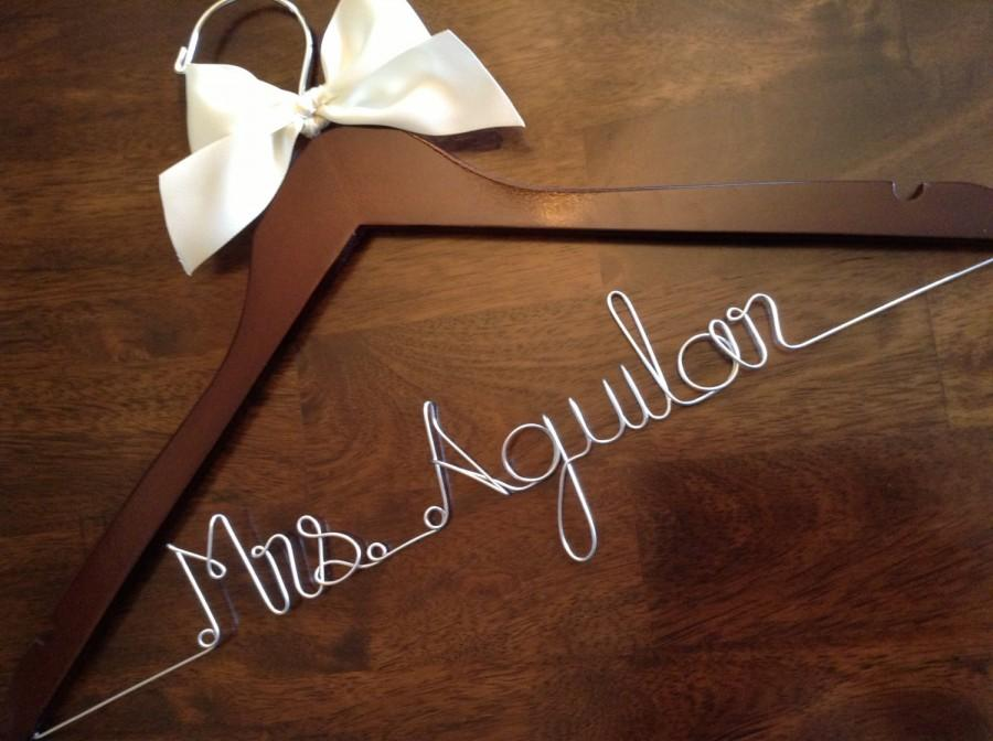 Huge sale personalized hangers bride wedding dress for Personalized wire wedding dress hanger