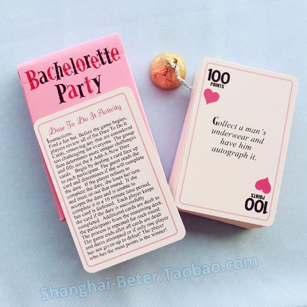 Свадьба - Truth or dare note cards zh025 european girlfriends bachelor party lady Night Bachelorette