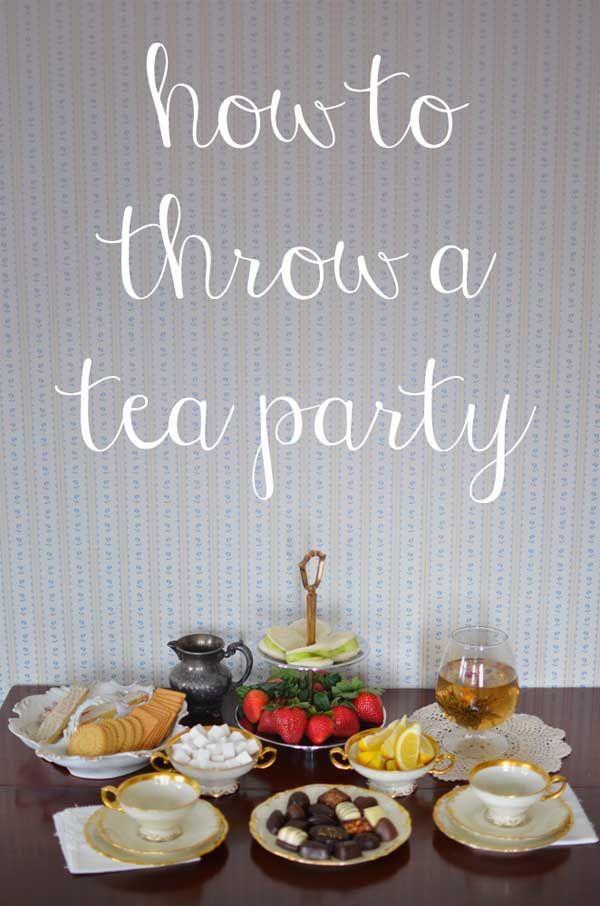 Wedding - Throwing A Tea Party