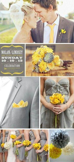 Wedding - Grey And Yellow Wedding