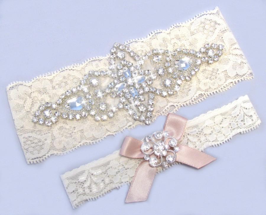 55aa5bdb9d3 Blush Wedding Garter