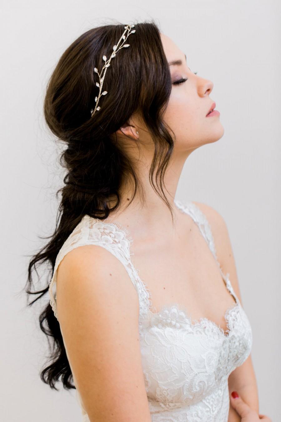 Hochzeit - Crystal Headband, Crystal Halo, Boho Headband, Bridal Headband, Crystal Hair Vine, Bridal Hair Vine, Boho Bridal Halo, Boho Hair Piece