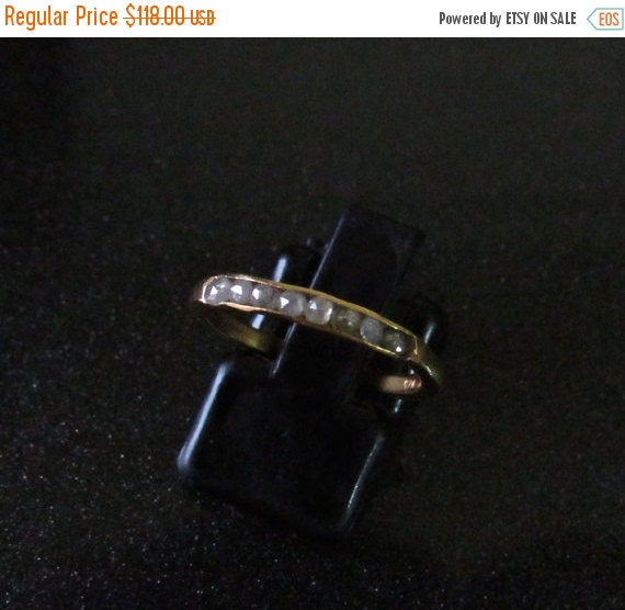 Свадьба - ON SALE 10% Black/Grey Rose Cut Raw Diamonds Promise Ring, Sterling Silver Ring with Gold Plating, Uncut Diamond Ring, Wedding Band