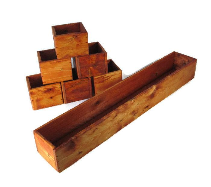 6 piece wood centerpiece set event and wedding decor for Decor 6 piece lunchbox