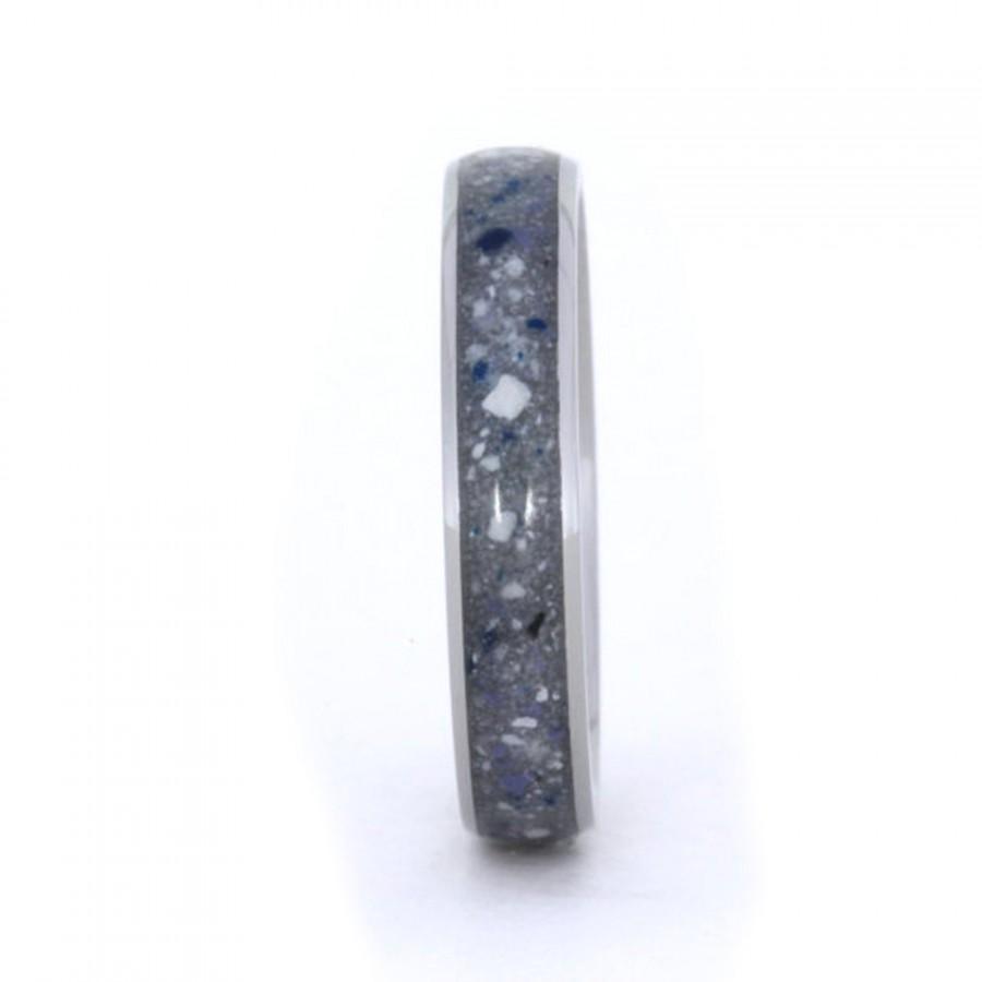 Свадьба - Denim Concrete Ring, Woman's and Men's Titanium Ring or Wedding Band