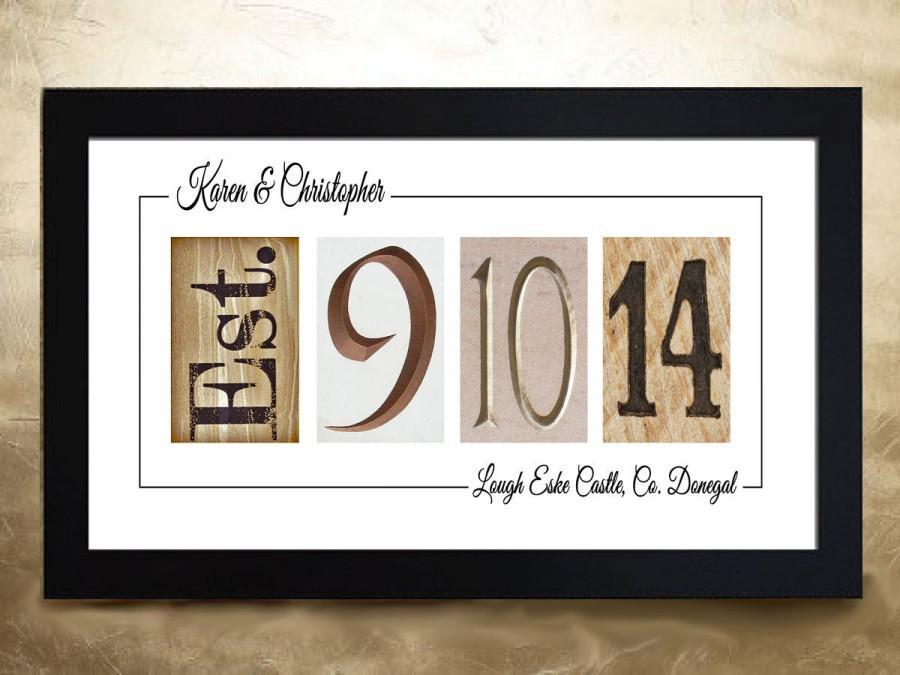 Hochzeit - WEDDING DATE ART - unframed, Wedding Date Signage, Wedding Date Numbers, Personalised Wedding Gift Idea