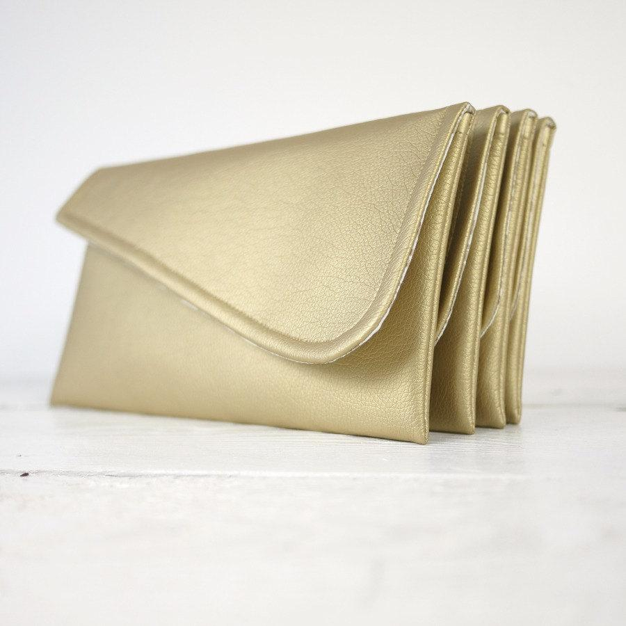 Boda - Set of simple gold clutches