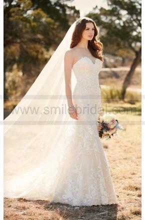 Wedding - Essense Of Australia Lace Fit And Flare Wedding Dress Style D2109