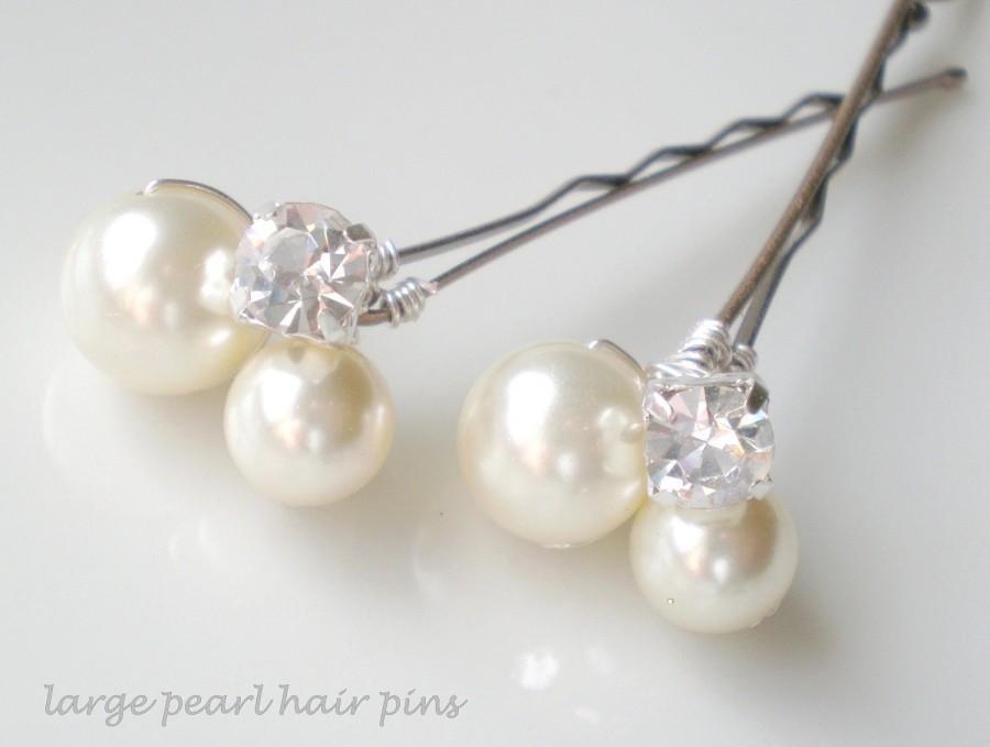 زفاف - CRAZY SALE 2 Sets Ivory Pearl and Rhinestone Bridal Hair Pins.. Chic Elegant Bride. Vogue Jeweled Hair Accessory