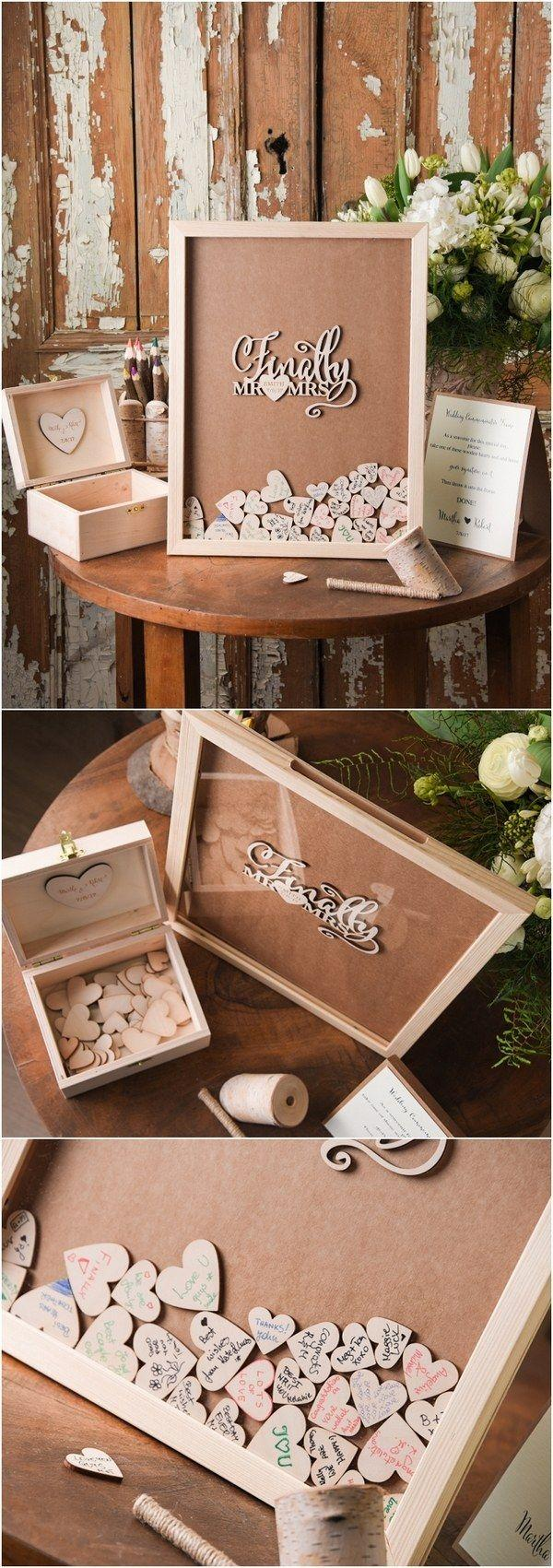 Mariage - Top 12 Rustic Wedding Guest Books & Botanical Wedding Invitations