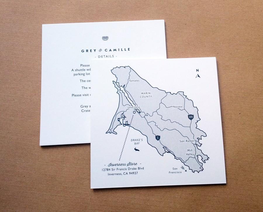 Mariage - Custom Wedding Map Design  /  Wedding Venue Maps, Customised