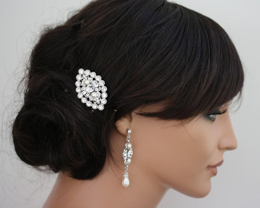 Wedding Hair Accessory Small Comb Pearl And Crystal