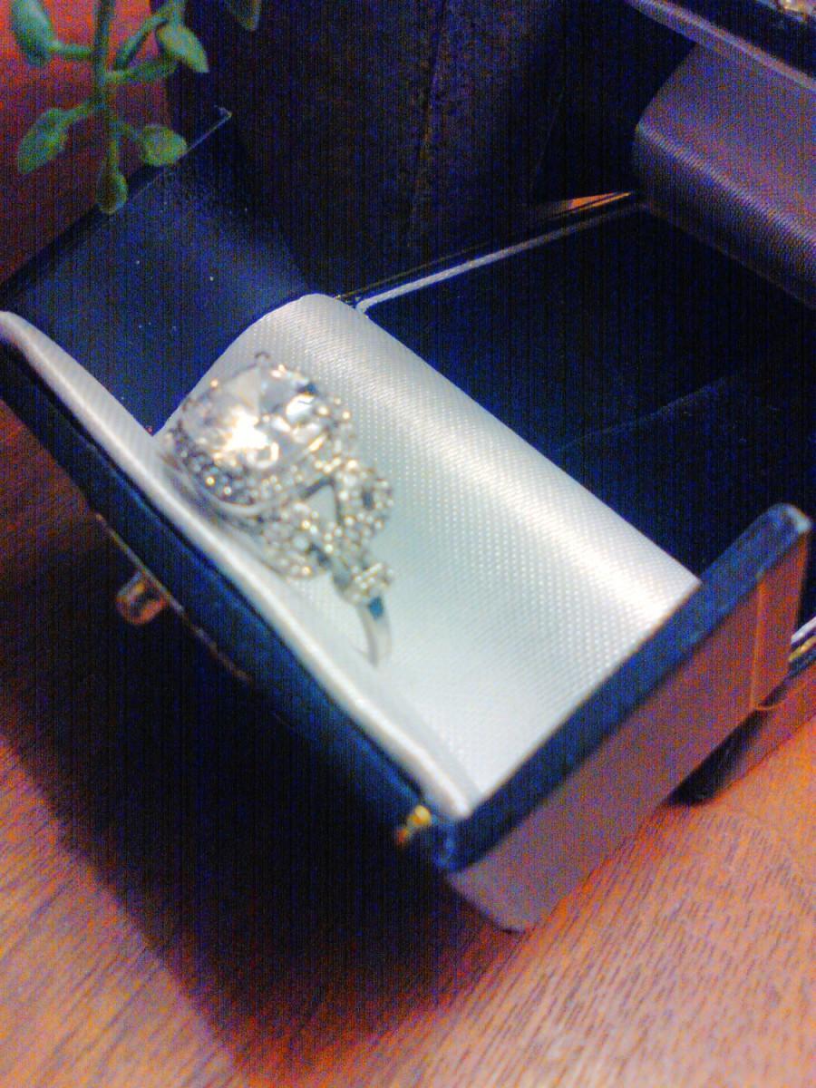 Hochzeit - Sterling silver multiple stone ring Sterling engagement ring Sterling CZ ring engagement wedding band wedding jewelry