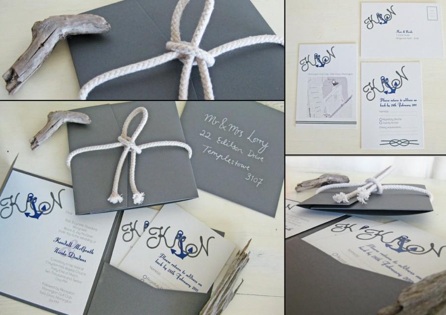 Hochzeit - Anchor Away Complete Wedding Set