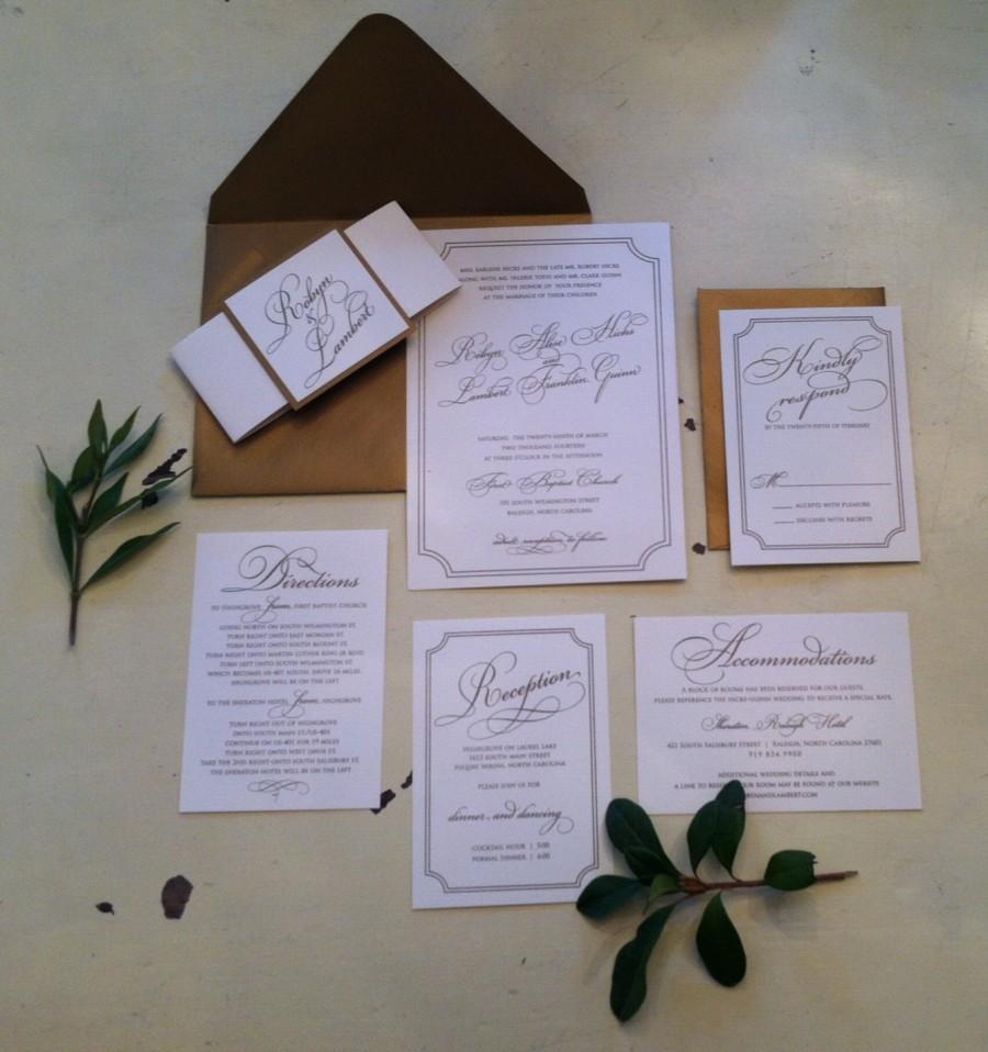 Hochzeit - Vintage Gold Wedding Invitation, Vintage Blush Wedding Invitation, Blush and Gold Wedding Invitation, Elegant Wedding Invitation